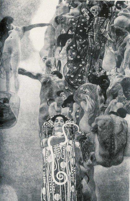 Gustav Klimt La Medicina 1901-1907 Olio su tela 430X300cm Distrutto nel 1945 nell'incendio del castello di Immerdorf